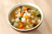 カブとレンズ豆のスープ