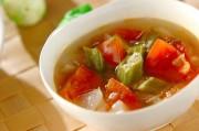 トロっとおいしい!トマトとオクラのコンソメスープ