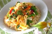 春野菜の卵とじ丼