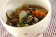 アサリとキノコのガーリックスープ