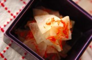 大根と干し桜エビの酢の物