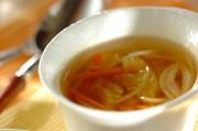 薄切りセロリのスープ