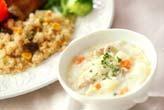 クスクス炒め&白いスープ