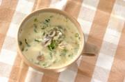 即席キノコの豆乳スープ
