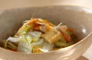 白菜と油揚げの煮物