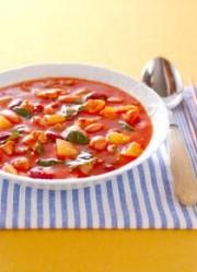 豚肉・トマト味のスープ