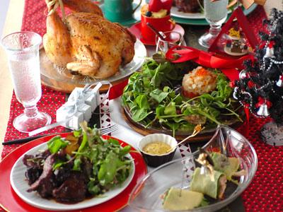 ベビーリーフで華やか☆クリスマスパーティーレシピ