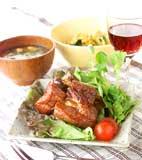 スペアリブのママレード煮の献立