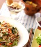 炒め素麺の献立