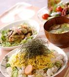 タラコ混ぜご飯の献立