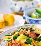 豚肉とニラのソース炒めの献立