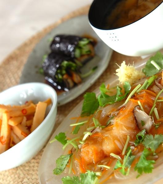 サクサク白身魚の野菜たっぷりあんかけの献立