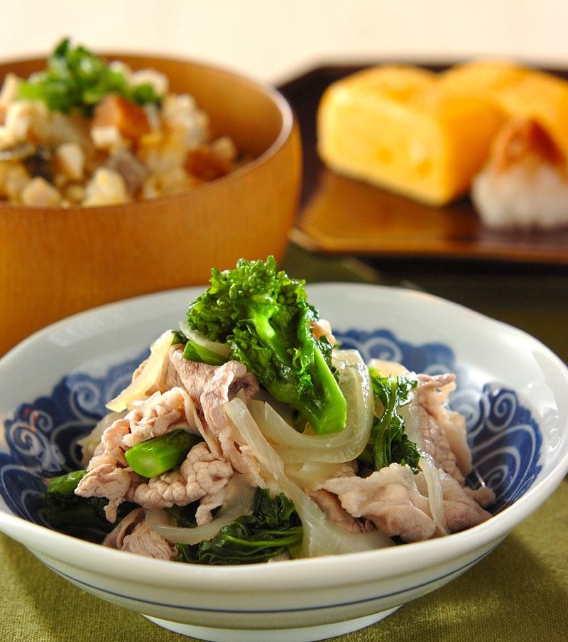 豚と菜の花のサッパリ煮の献立