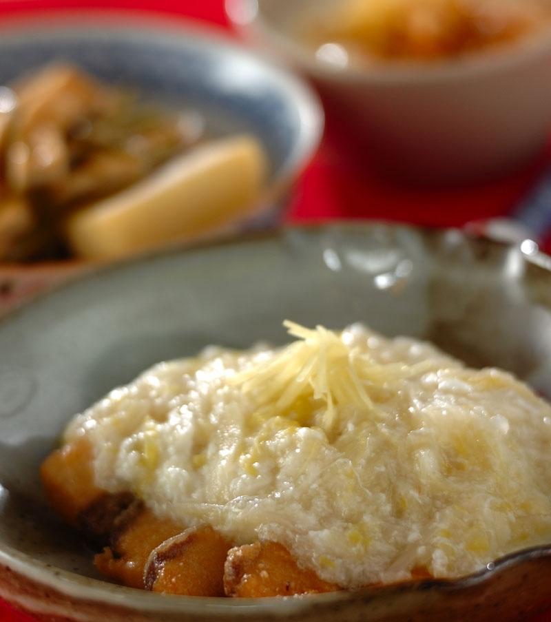 揚げ魚の白菜あんかけショウガ風味の献立