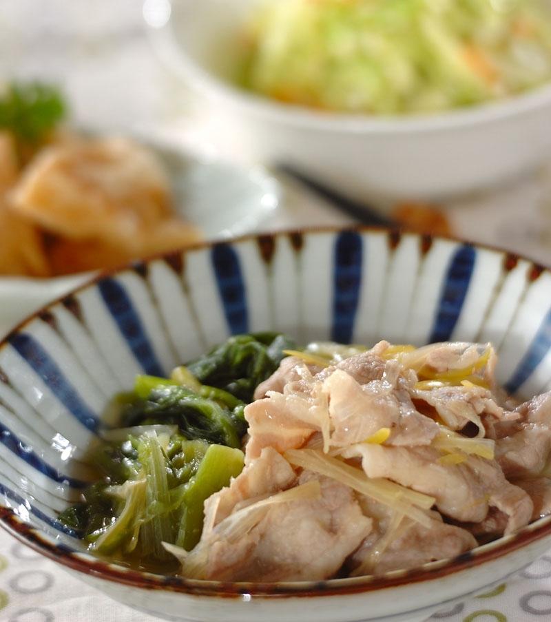 豚肉と小松菜のだし煮の献立