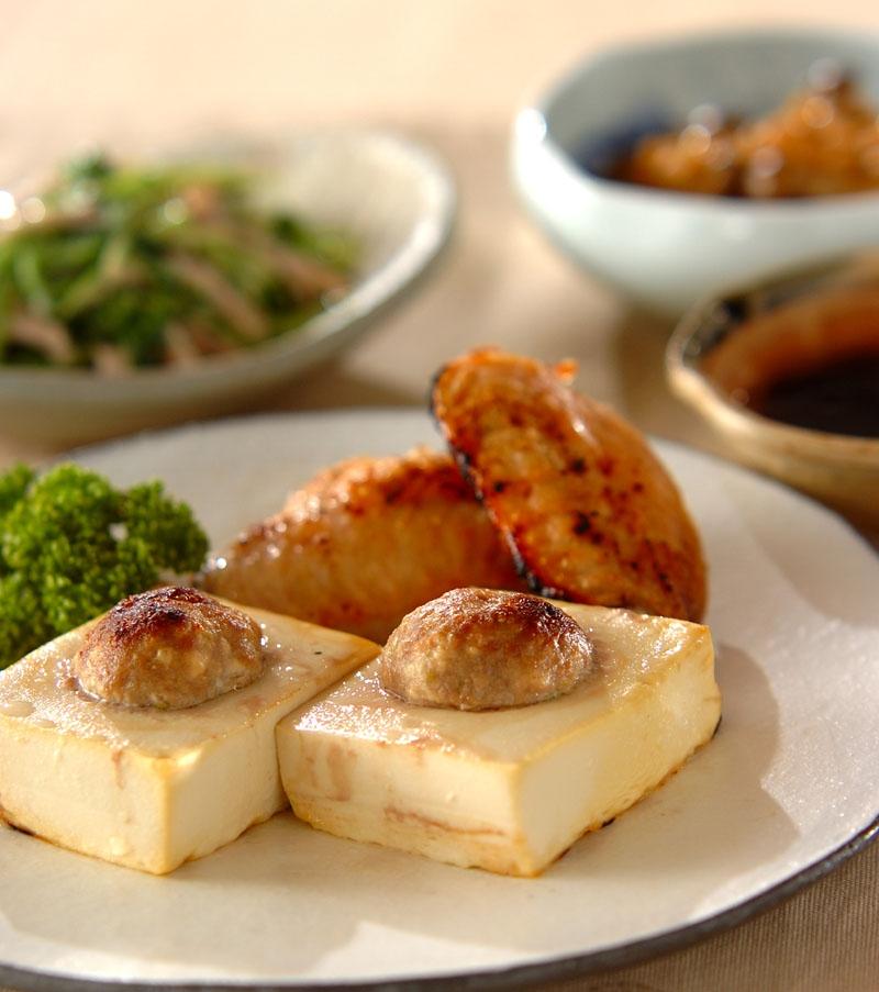 豆腐の肉詰めグリル焼きの献立