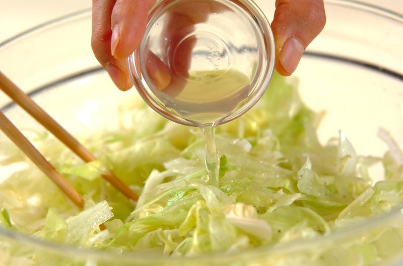 キャベツのシンプルサラダの作り方2