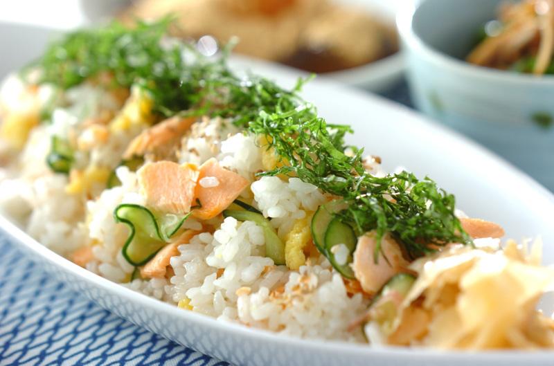 塩鮭のさっぱり混ぜ寿司