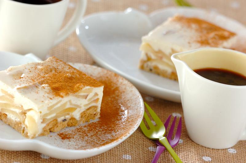 ジンジャーアップルチーズケーキの作り方の手順