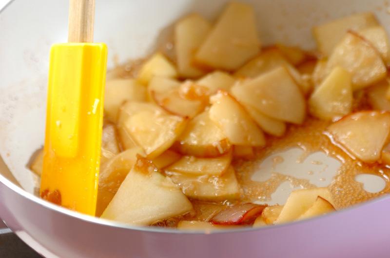 ジンジャーアップルチーズケーキの作り方の手順7