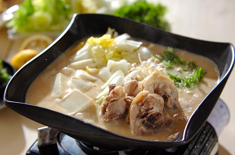 鶏鍋~酒粕鍋~酒粕湯葉ご飯の作り方の手順