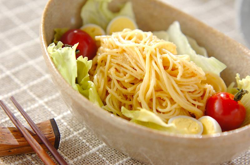 タラコマヨパスタサラダの作り方の手順