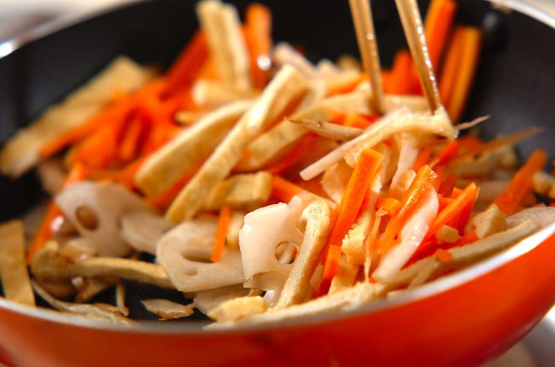 根菜の炊き込みご飯の作り方の手順7