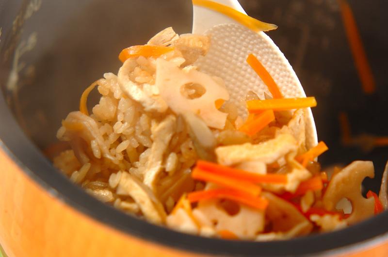 根菜の炊き込みご飯の作り方の手順9