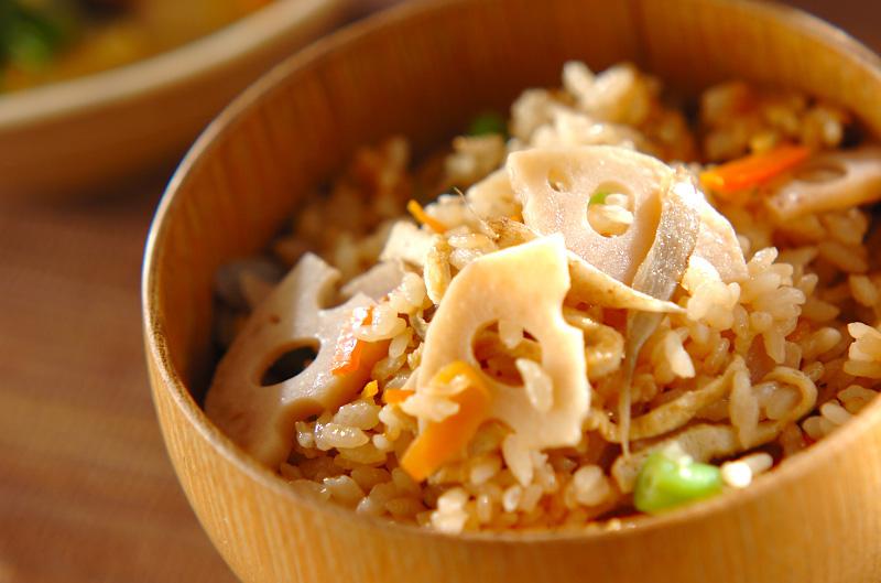 根菜の炊き込みご飯の作り方の手順
