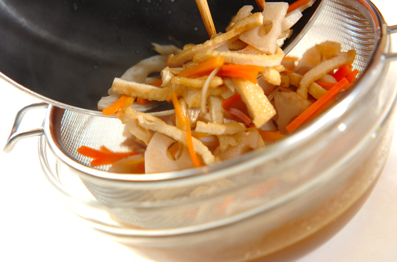 根菜の炊き込みご飯の作り方の手順8