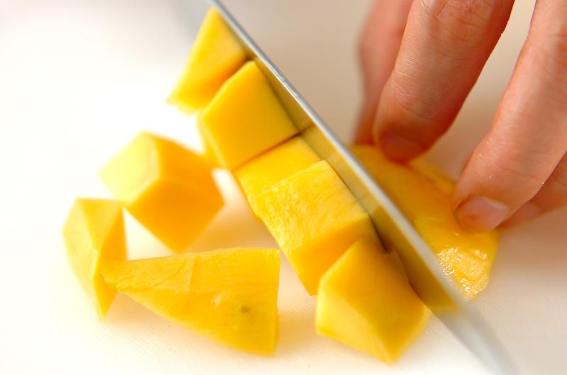 マンゴーミルクの下準備1