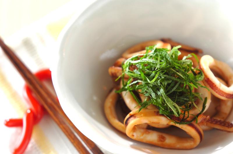 イカの甘辛炒めの作り方の手順
