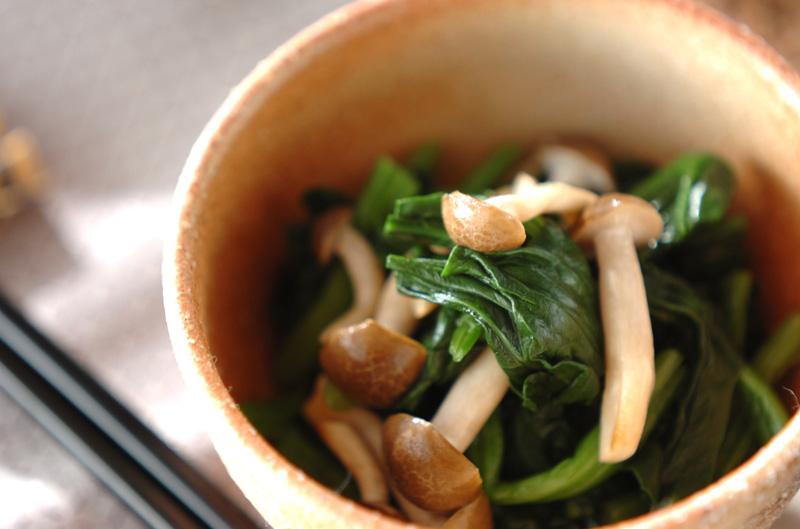 青菜とシメジのお浸しの作り方の手順