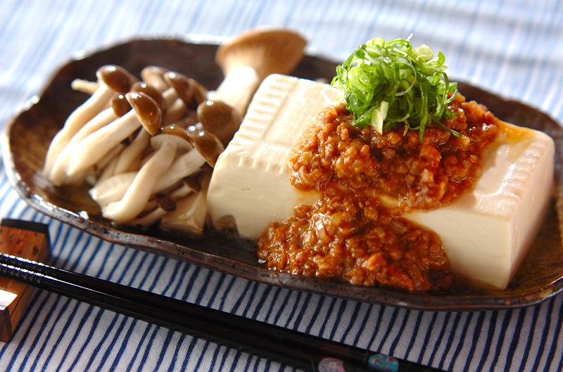 ネギみそ温豆腐