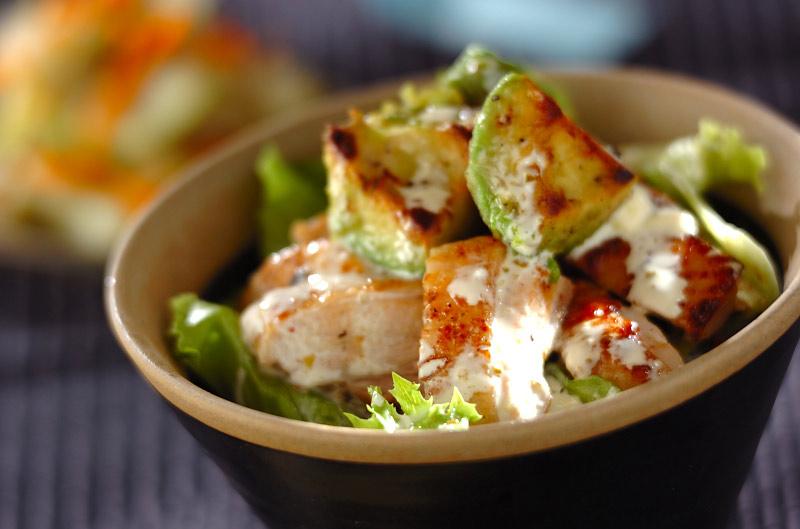 鶏とアボカドのユズコショウ丼の作り方の手順