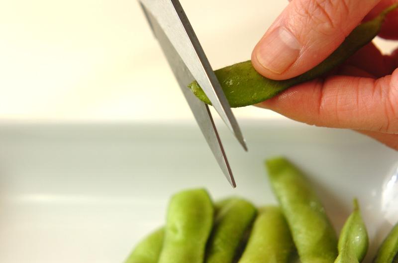 塩ゆで枝豆の作り方の手順1