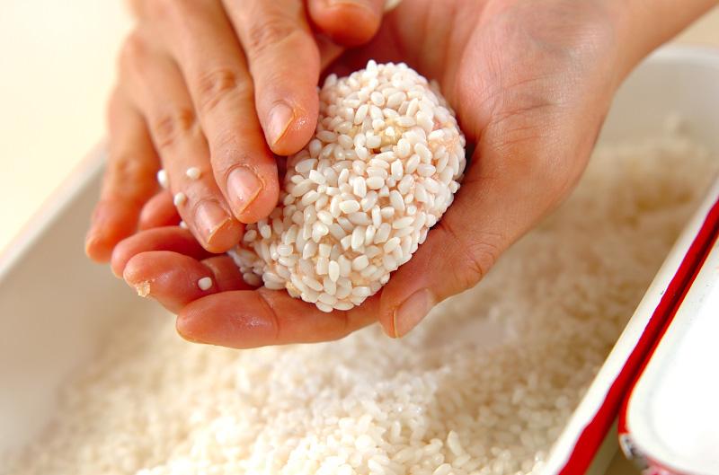 豆腐の蒸し米団子の作り方の手順5