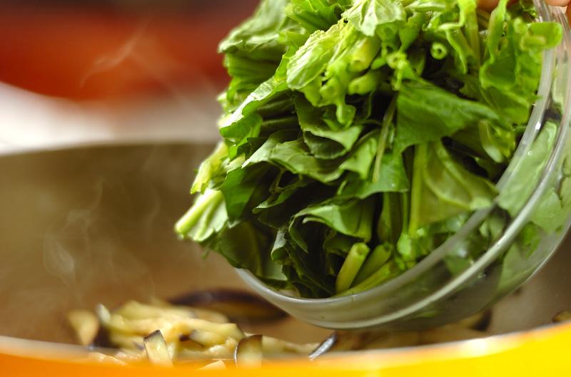 ホウレン草のガーリック炒めの作り方2
