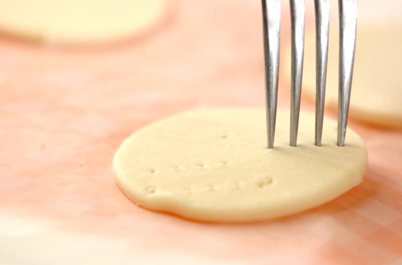 パイではさんだリンゴのカラメリゼ バニラアイス添えの作り方2