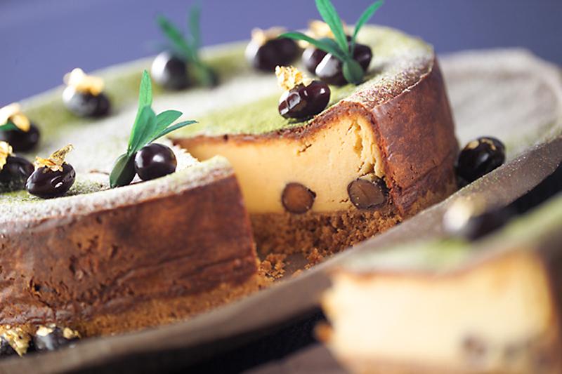 黒豆のベイクドチーズケーキ