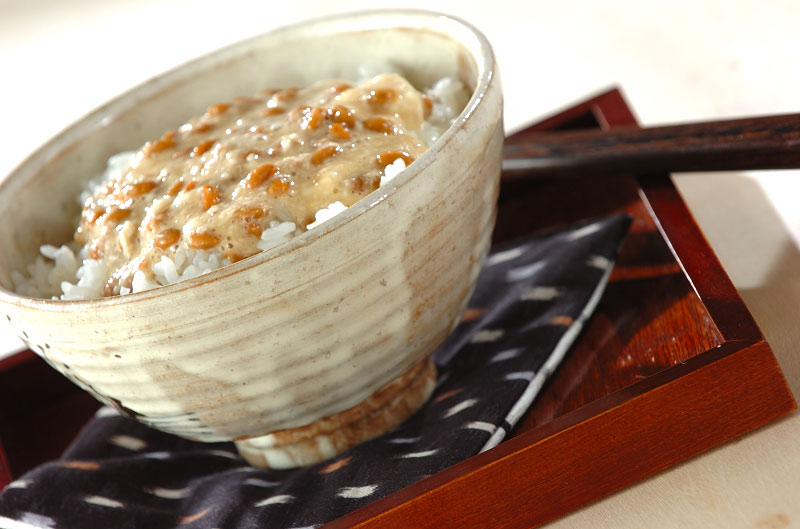 山芋納豆ご飯の作り方の手順