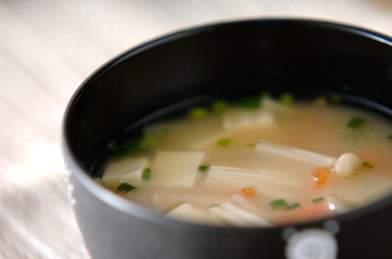 豆腐の白みそ汁の作り方の手順