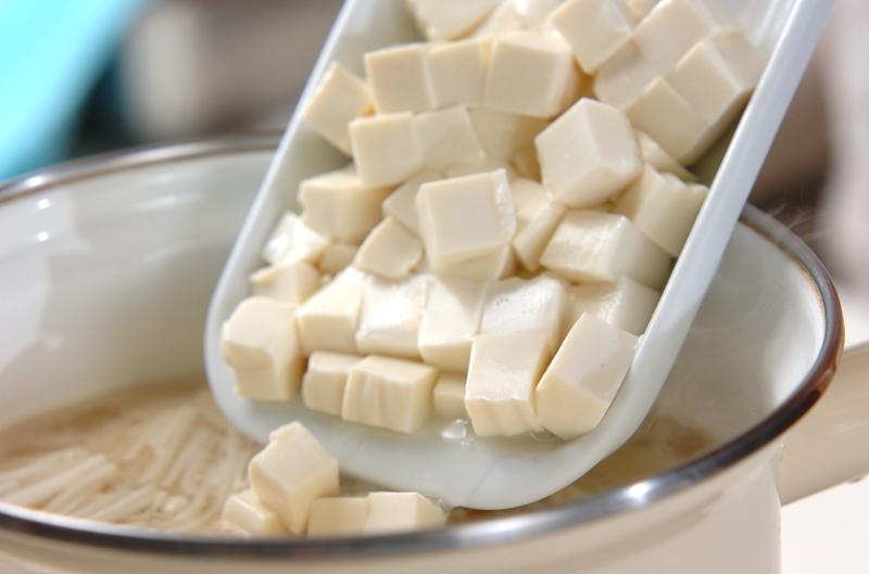 豆腐の白みそ汁の作り方の手順5
