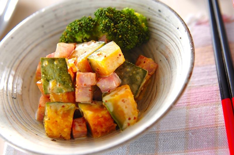 カボチャとハムのサラダ