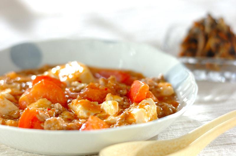 トマト入りマーボー豆腐の作り方の手順