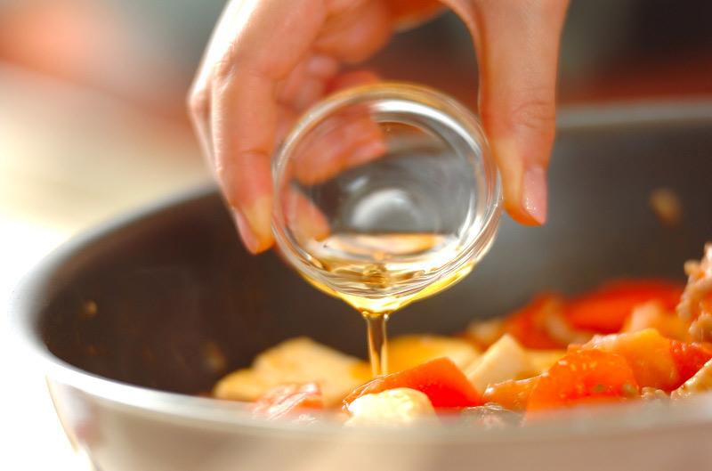トマト入りマーボー豆腐の作り方の手順8