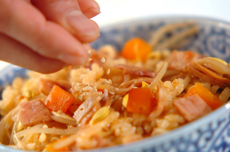 中華風炊き込みご飯の作り方の手順3