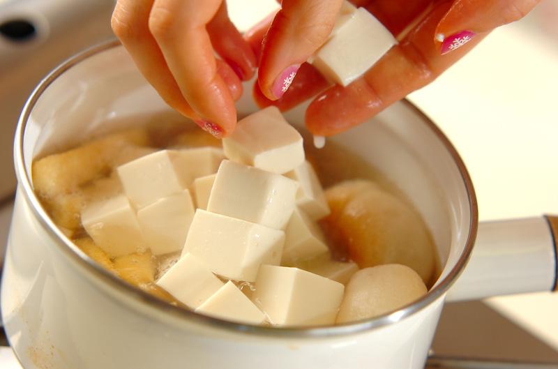 豆腐のみそ汁の作り方1
