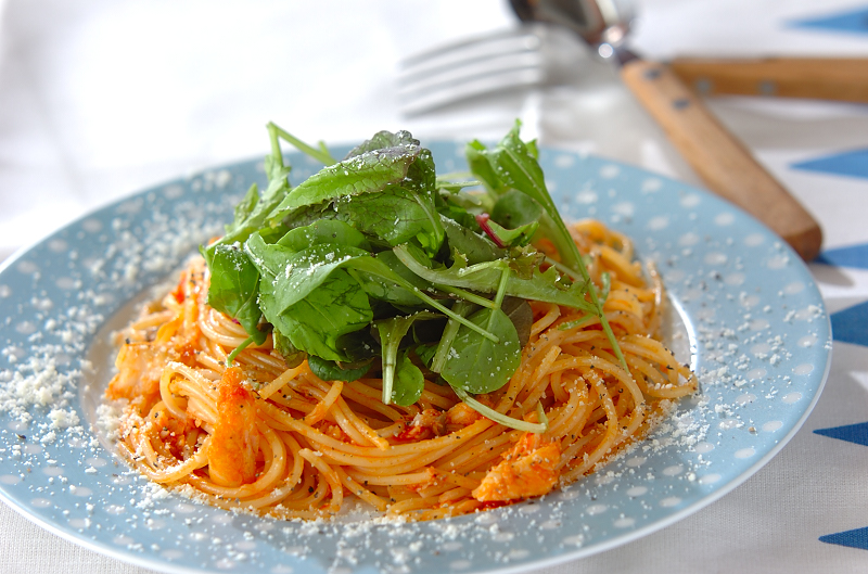 白身魚のトマトパスタの作り方の手順