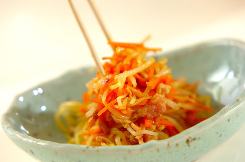 モヤシのカレー酢和えの作り方の手順3